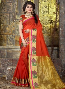 Thread Work Khadi Silk Trendy Saree