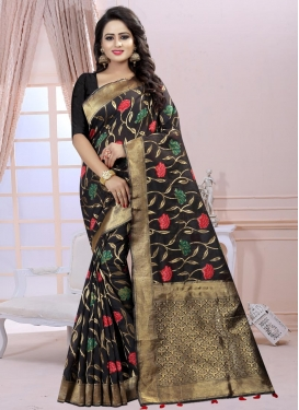 Thread Work Linen Classic Saree
