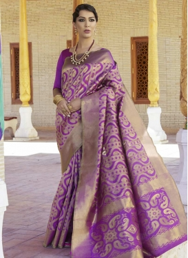 Thread Work Nylon Silk Contemporary Saree