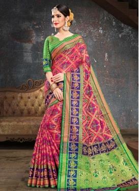 Thread Work Patola Silk Classic Saree For Ceremonial