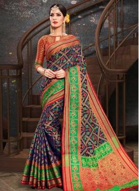 Thread Work Patola Silk Designer Traditional Saree