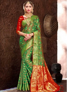 Thread Work Patola Silk Traditional Designer Saree