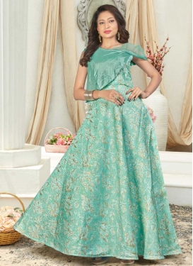 Thread Work Readymade Classic Gown