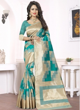 Thread Work Silk Traditional Saree For Ceremonial