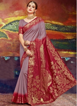 Thread Work Traditional Saree