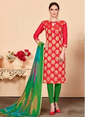 Thread Work Trendy Churidar Salwar Suit