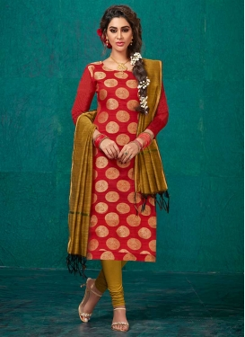 Thread Work Trendy Churidar Suit