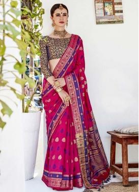 Thread Work Trendy Classic Saree