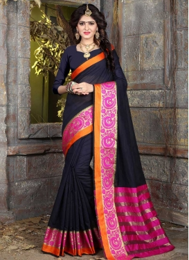 Thread Work Trendy Classic Saree For Casual