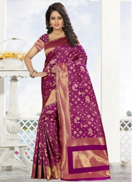 Thread Work Trendy Classic Saree For Ceremonial