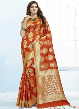 Thread Work Trendy Classic Saree For Festival