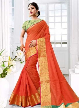 Thread Work Trendy Saree For Ceremonial