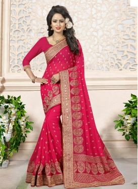 Thrilling Faux Georgette Designer Traditional Saree