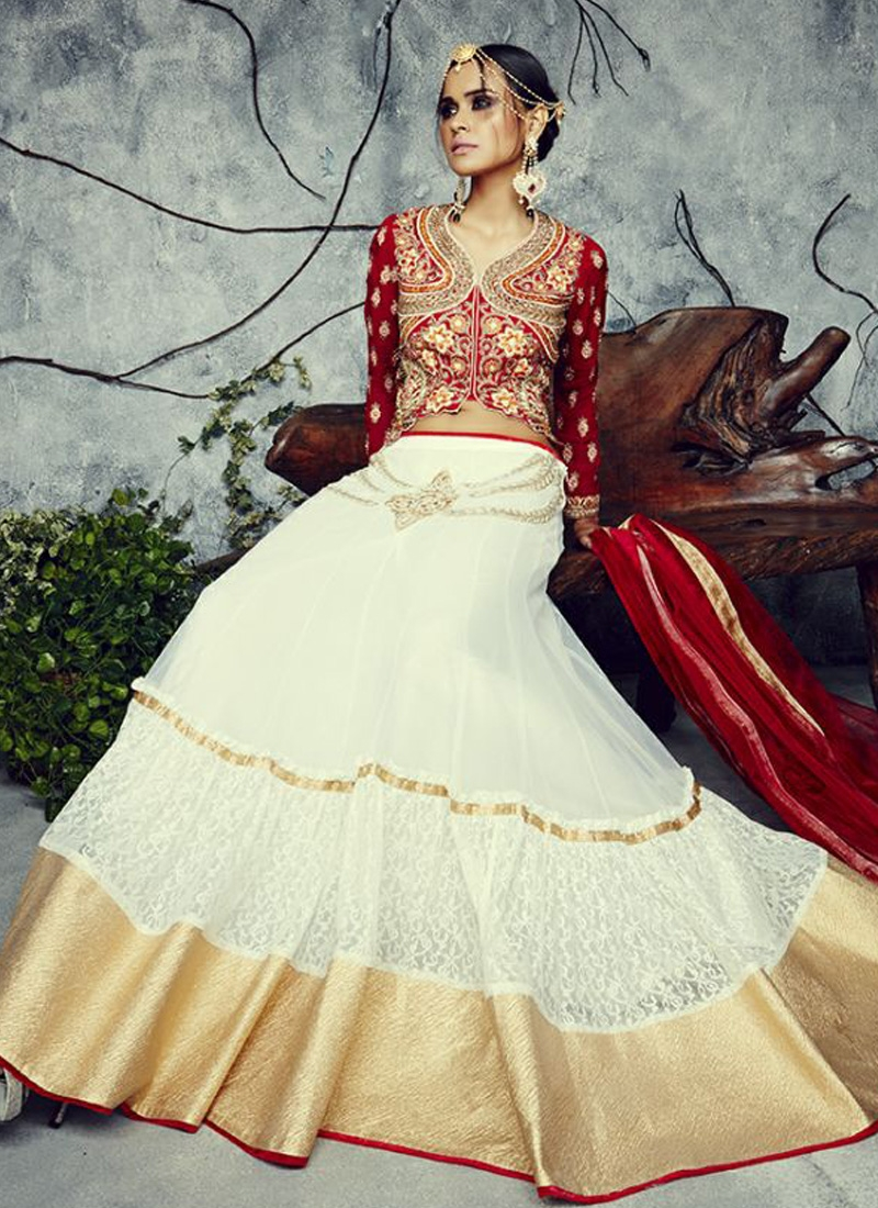 Thrilling Lace Work Net Designer Lehenga Choli