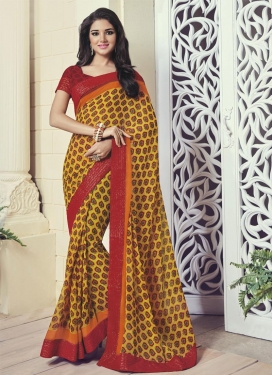 Tiptop Faux Georgette Contemporary Style Saree