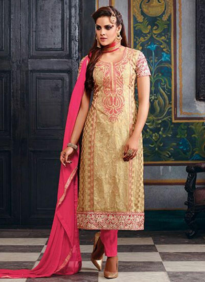 Tiptop Faux Georgette Pant Style Pakistani Salwar Suit