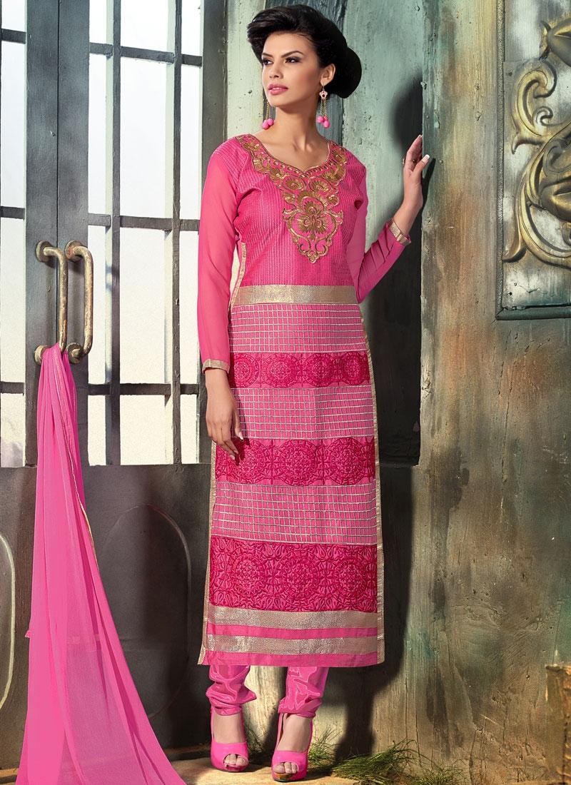 Tiptop Hot Pink Color Pakistani Salwar Suit