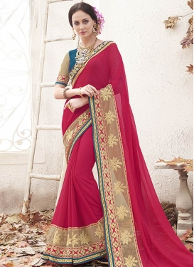 Tiptop Patch Border And Stone Work Party Wear Saree
