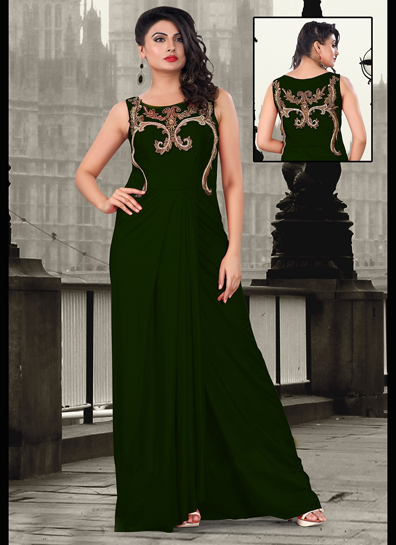 Titillating Cutdana Work Party Wear Readymade Gown