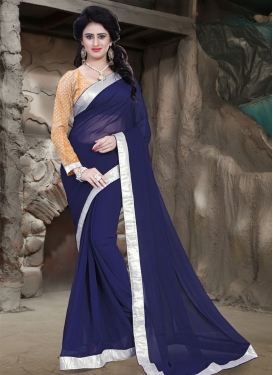 Titillating Faux Georgette Casual Saree