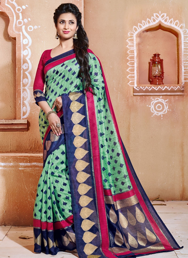 Titillating Printed Divyanka Tripathi Casual Saree