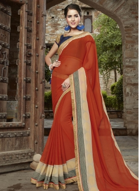 Tomato Trendy Saree For Festival