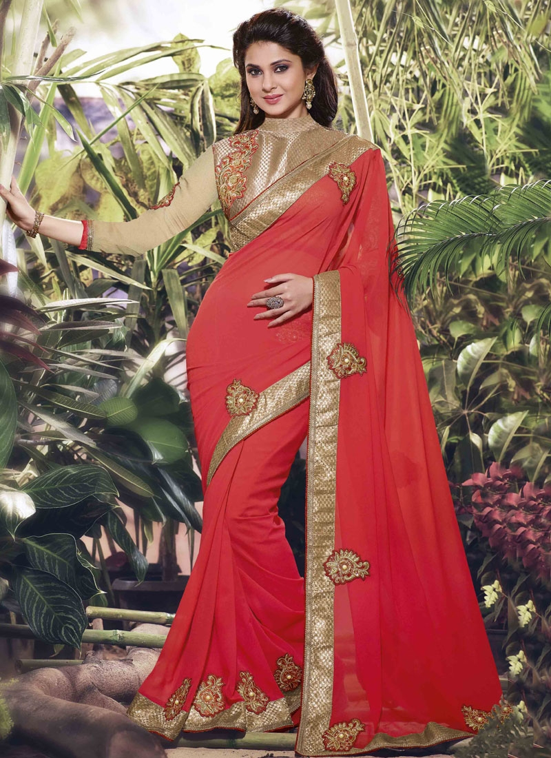 Topnotch Booti Work Jennifer Winget Designer Saree