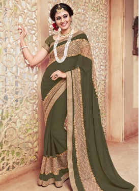 Topnotch Faux Georgette Contemporary Saree