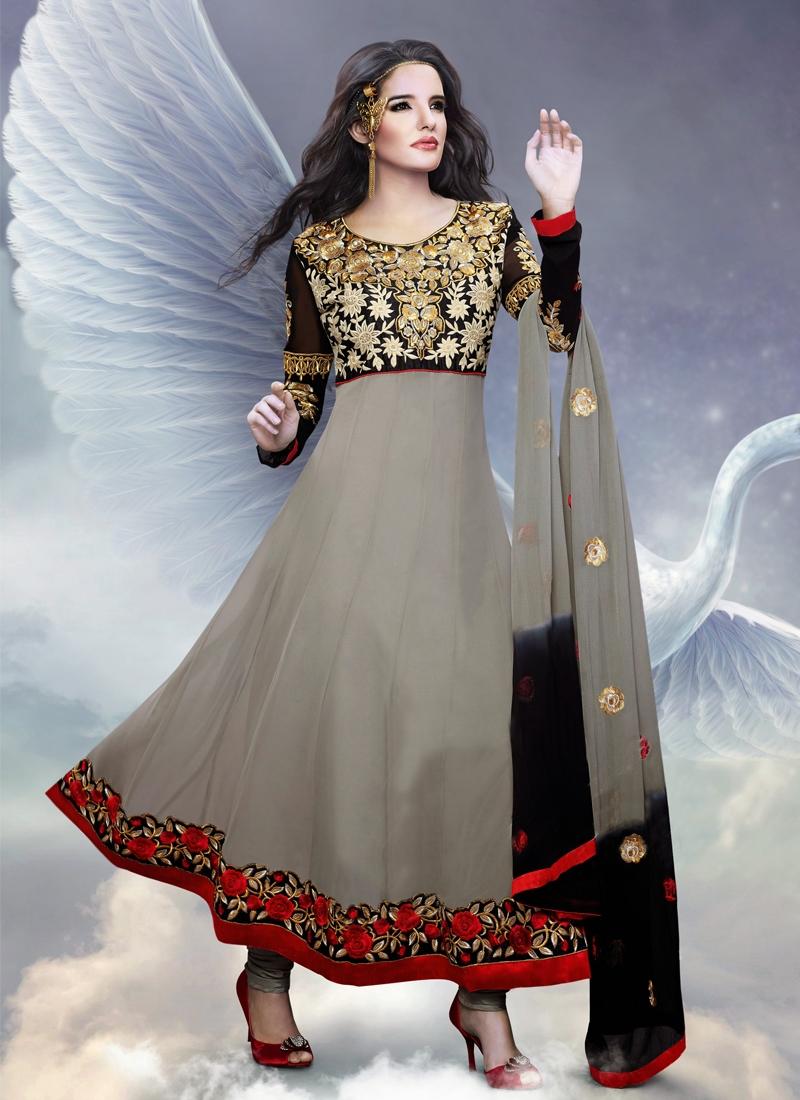 Topnotch Floral Enhanced Anarkali Salwar Kameez