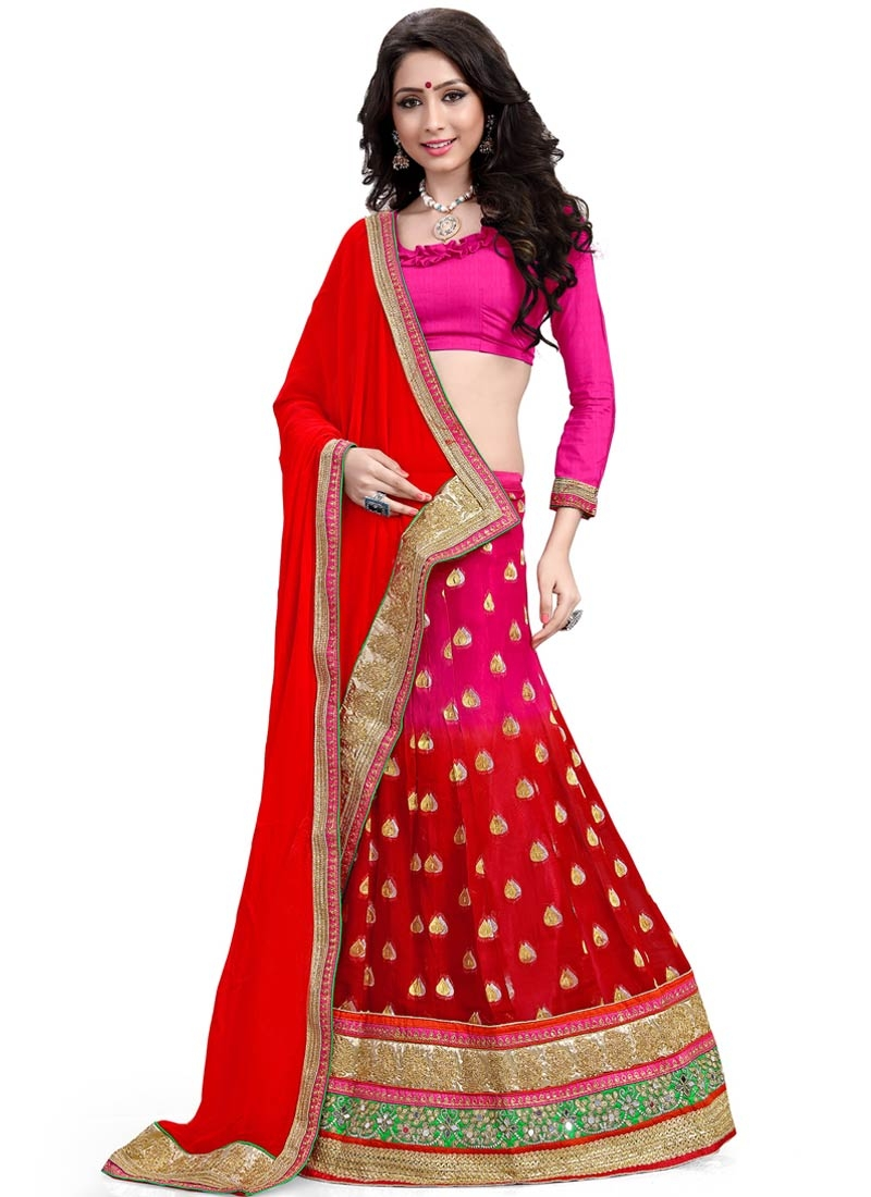 Topnotch Patch Border And Mirror Work Designer Lehenga Choli