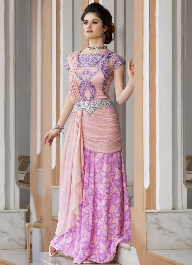 Topnotch Resham Work Designer Readymade Gown