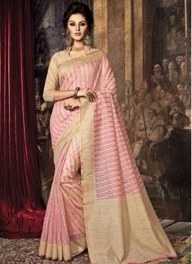 Transcendent Art Raw Silk Contemporary Style Saree For Ceremonial