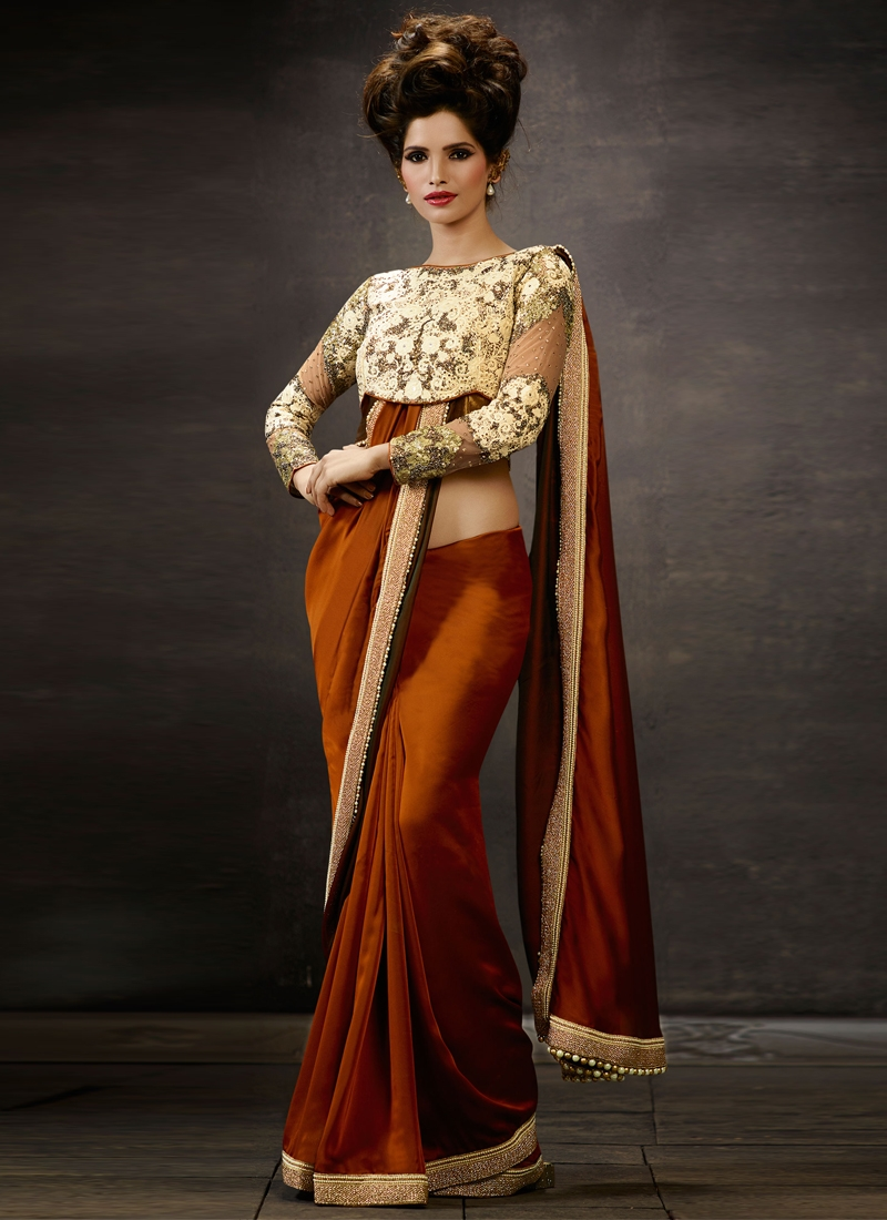 Transcendent Beads And Sequins Work Designer Saree