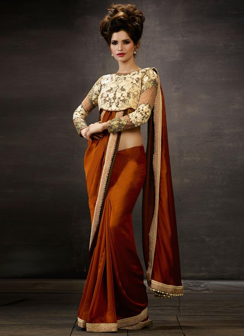 Transcendent Beads And Sequins Work Designer Saree