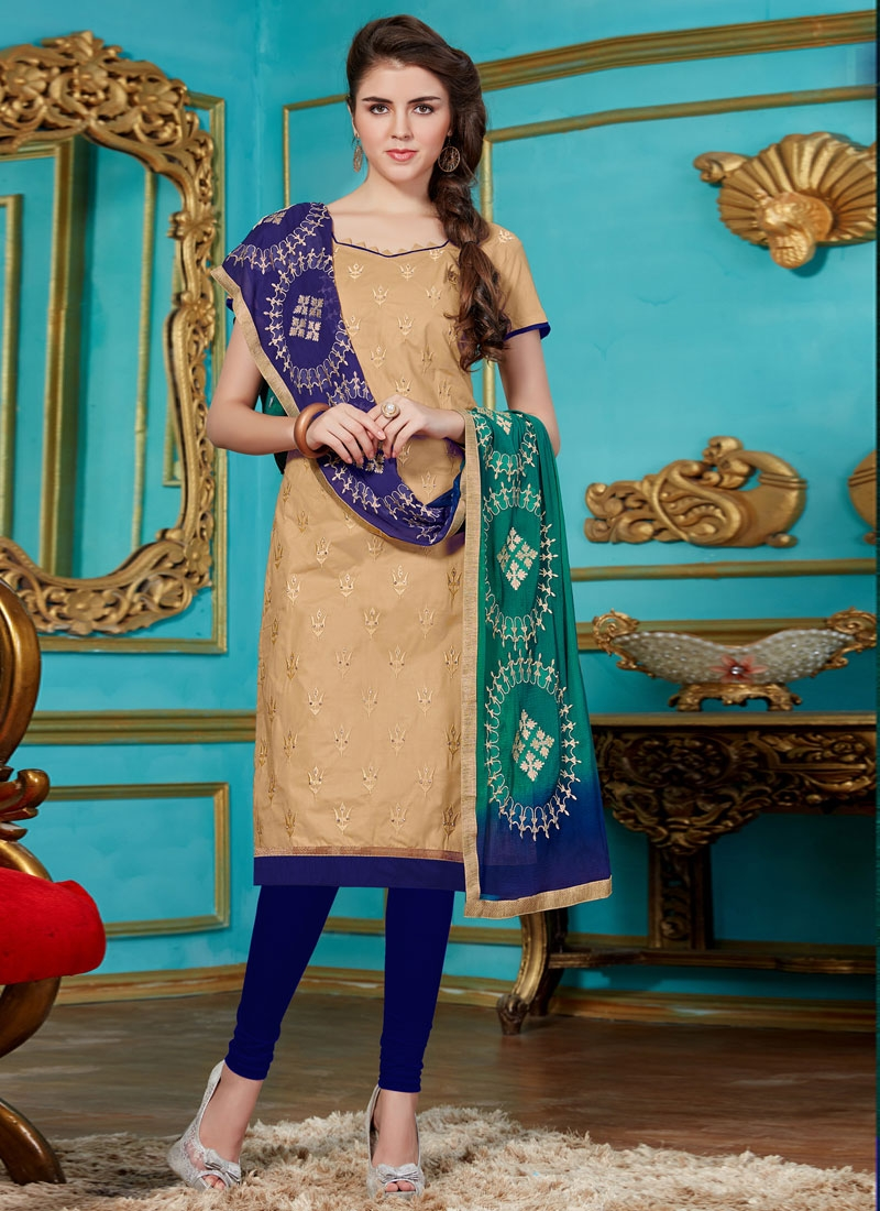 Transcendent Beige Color Cotton Casual Suit