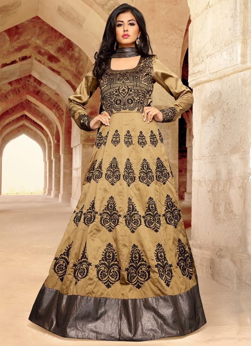 Transcendent Booti Work Floor Length Anarkali Salwar Kameez