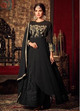 Transcendent  Faux Georgette Asymmetrical Designer Salwar Suit