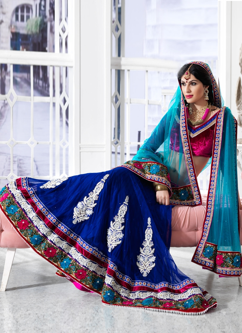 Transcendent Floral Patch Wedding Lehenga Choli