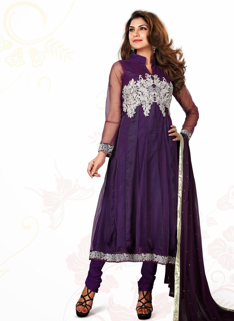 Transcendent Net And Satin Designer Salwar Suit