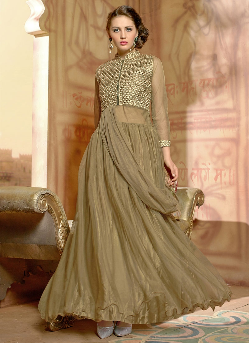 Transcendent Net Party Wear Readymade Gown