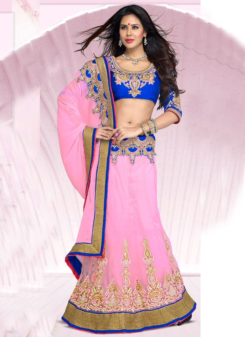Transcendent Patch Enhanced Lehenga Saree