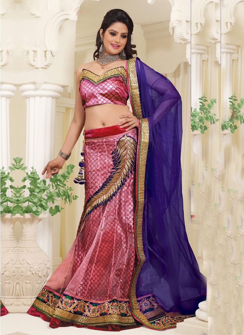 Transcendent Patch Work Wedding Lehenga Choli