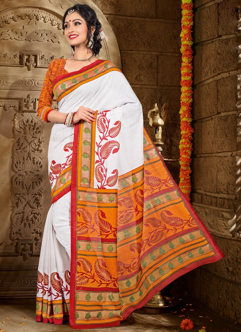 Transcendent Printed Art Silk Casual Saree