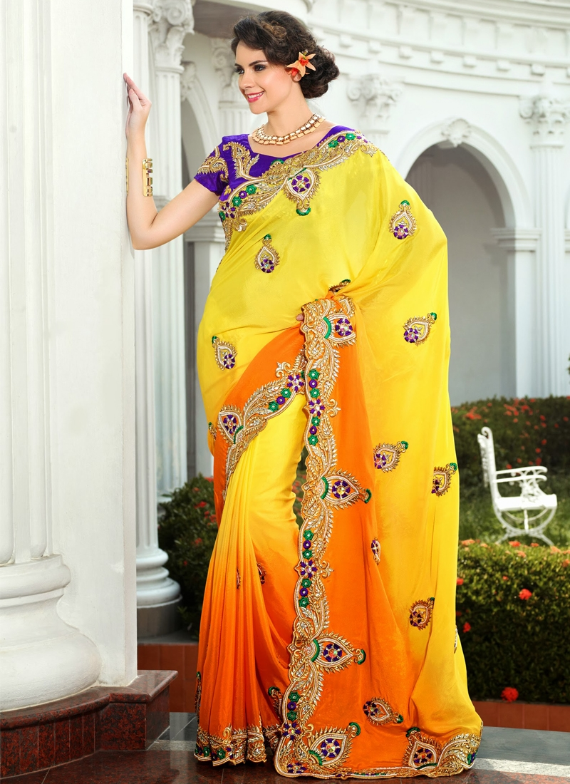 Transcendent Resham Enhanced Wedding Saree