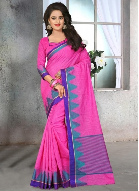 Transcendent  Resham Work Cotton Silk Trendy Saree