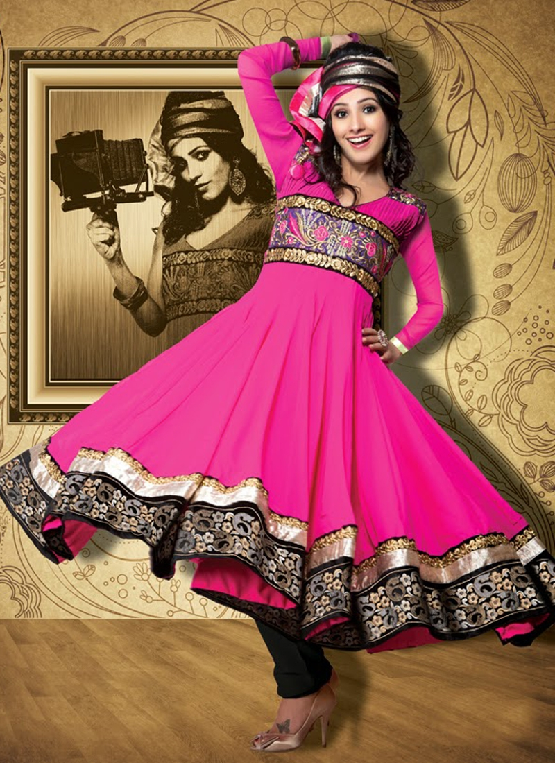 Transcendent Rose Pink Color Anarkali Salwar Suit