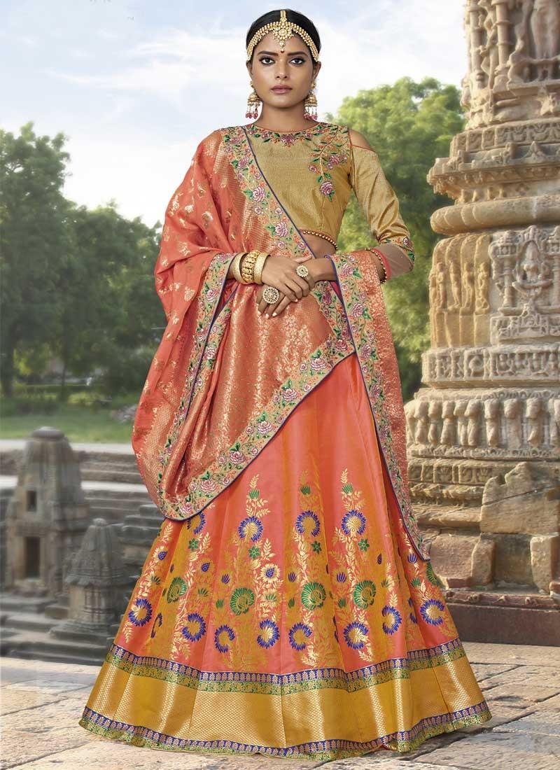 Trendy A Line Lehenga Choli For Bridal