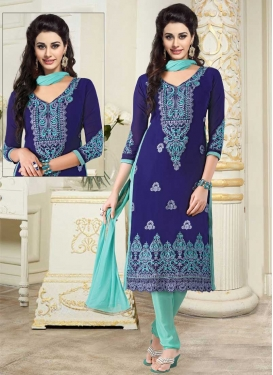 Trendy Churidar Salwar Suit For Festival