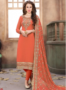 Trendy Churidar Suit For Festival