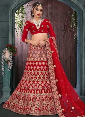 Trendy Fish Cut Lehenga Choli For Bridal